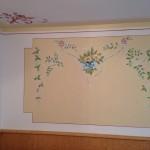 Particolare dipinto sopra divano